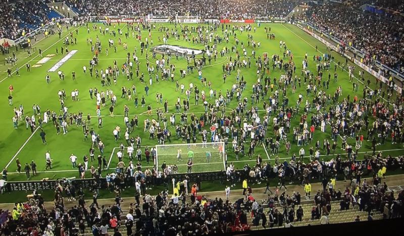 Olympique lyon besiktas stadion invadat de fani
