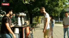 cafea pe bicicleta
