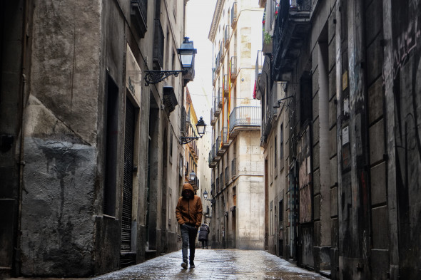 barcelona spania strada ingusta