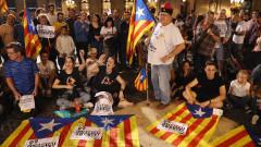 Demonstrators Protest Spanish Move To Suspend Catalan Autonomy