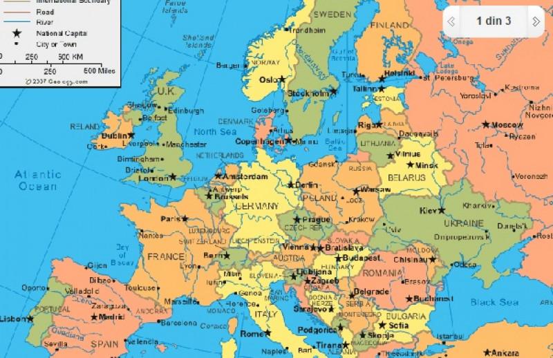 Harta Rutiera A Europei De Est