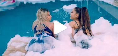 Nicki Minaj şi Ariana Grande fac twerking în cel mai hot clip al verii | VIDEO