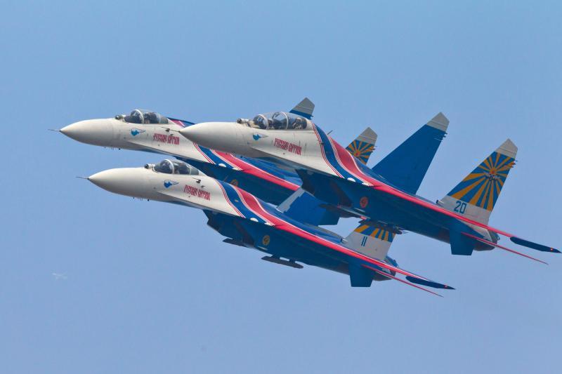 Avioane rusesti Su-27 Rusia aviatie - Guliver GettyImages