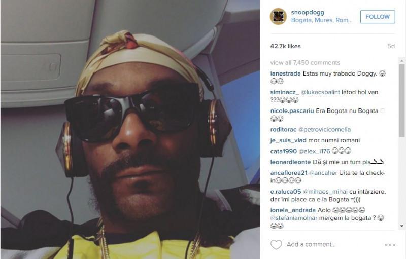 snoop dogg check in instagram bogata
