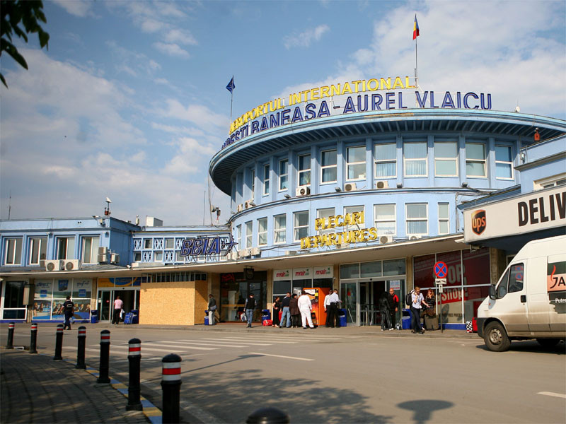 """Imagine cu Aeroportul Baneasa """"Aurel Vlaicu"""" din exterior."""