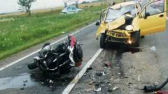 Poliţist care se deplasa pe motocicletă, accidentat mortal de un şofer care circula pe contrasens