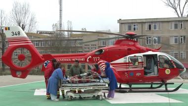 elicopter cj smurd cu pacient-1