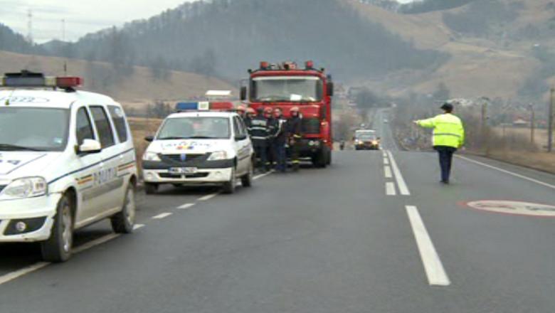 politisti pompieri trafic oprit suceava sosea