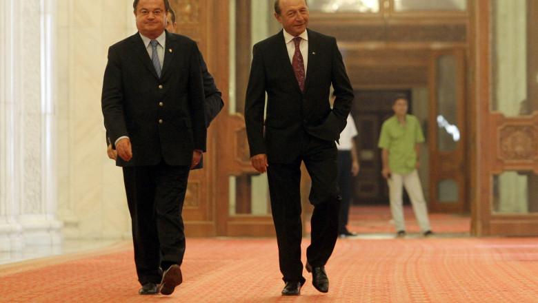 Vasile Blaga Traian Basescu 5358579-Mediafax Foto-Silviu Matei