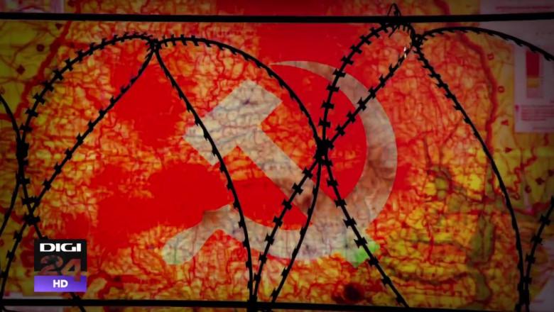 inchisoare gard comunism grafica