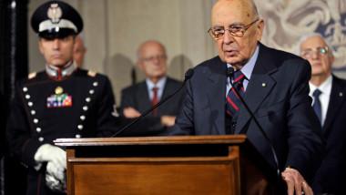 Giorgio Napolitano presedinte italia 5493052-AFP Mediafax Foto-TIZIANA FABI 1