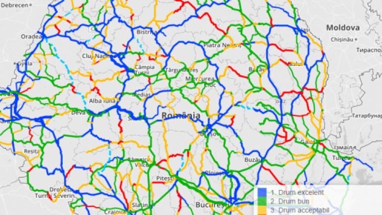 Harta Interactivă A Calităţii Drumurilor Din Romania