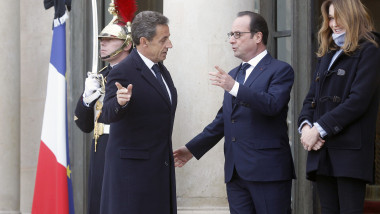 sarkozy hollande si carla la elysee - getty