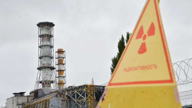 Semn materiale radioactive Cernobil Ucraina -AFP Mediafax Foto-GENYA SAVILOV