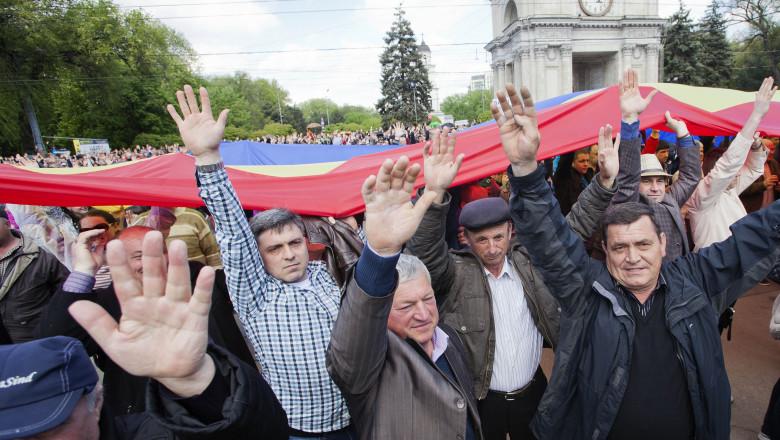protest chisinau - 7320369-Mediafax Foto-Radu Stefan