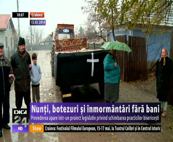Nunţi Botezuri şi înmormântări Fără Bani Prevederea Apare într Un