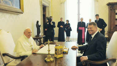 klaus iohannis papa francisc presidency.ro
