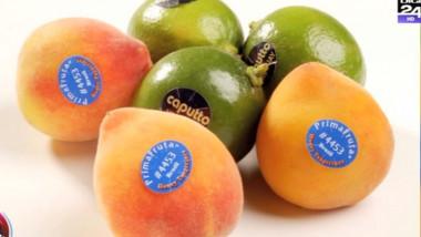 fructe cu eticheta