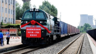 tren china transport feroviar hamburg harbin