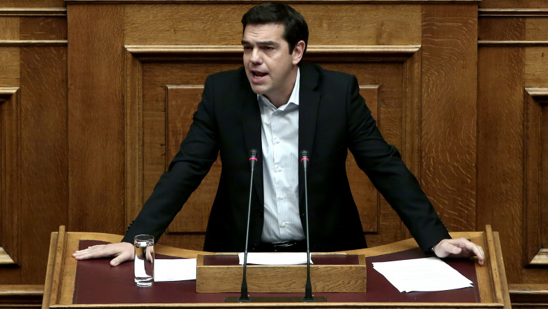 Alexis Tsipras parlament -AFP Mediafax Foto-Angelos Tzortzinis-4