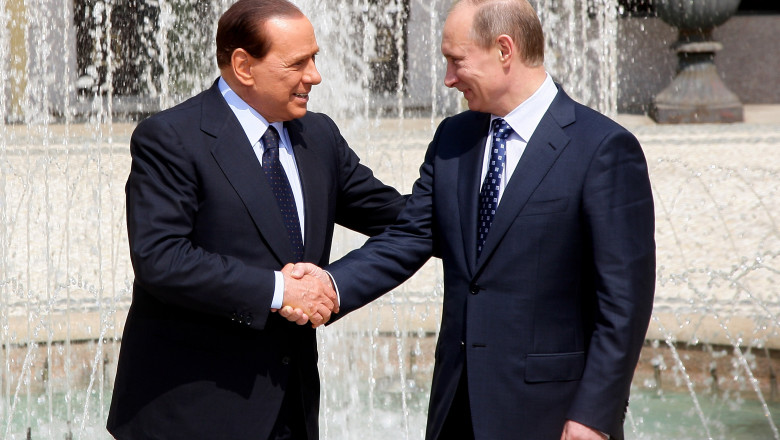 Silvio Berlusconi si Vladimir Putin - Guliver GettyImages