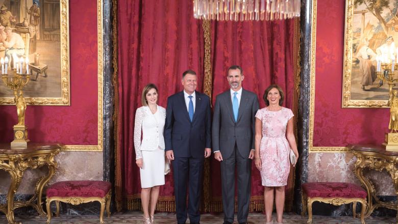 iohannis cu felipe si sotiile - presidency