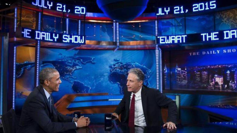 jon stewart barack obama interviu daily show 22 07 2015 1
