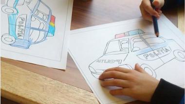 masini politie desen copii FB IGPR