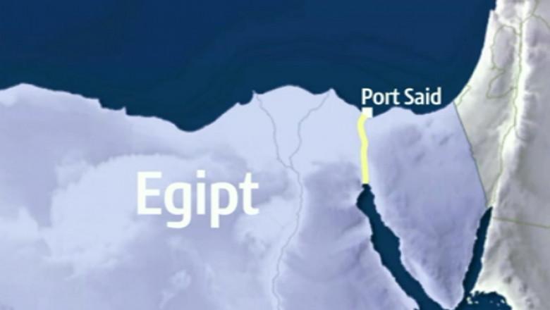 harta egipt canal suez - captura