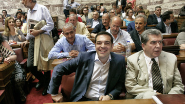 tsipras parlament grecia - GettyImages - 13 august 2015