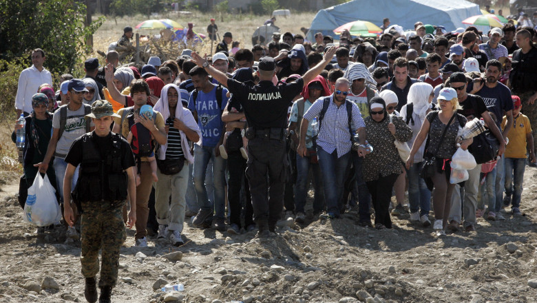 refugiati grecia macedonia - GettyImages - 24 august 15