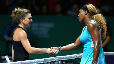 Simona Halep si Serena Williams GettyImages august 2015
