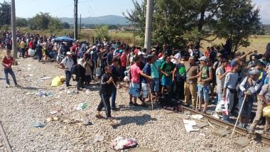 Refugiati imigranti Idomeni granita Grecia cu Macedonia Digi24 august 2015 2 -1