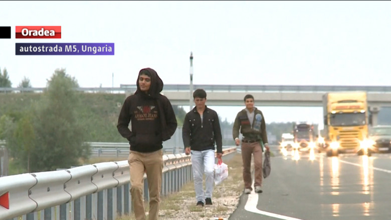 refugiati autostrada