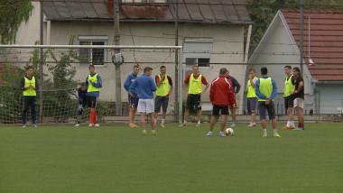echipa la antrenament