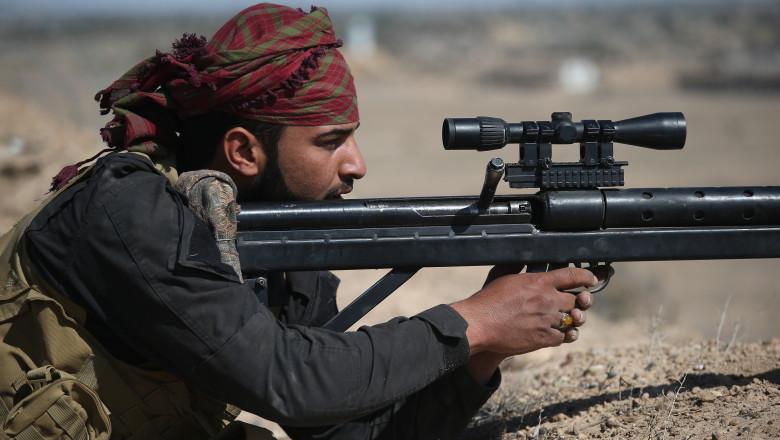A Shia militia sniper GettyImages
