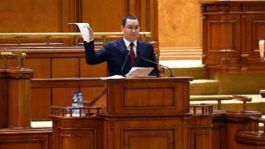 Victor Ponta motiune de cenzura Parlament agerpres 29.09.2015