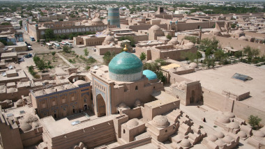 Khiva Itchan Kala view from Islam Khodja minaret