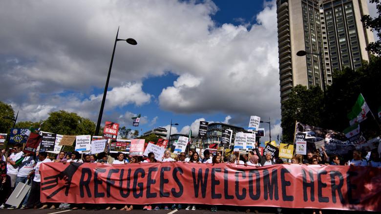 miting pro refugiati GettyImages-487874996