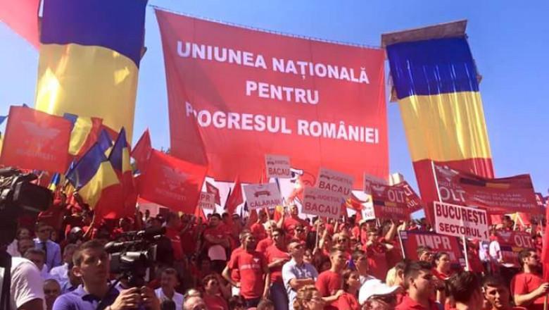 unpr manifestatie steaguri fb unpr bucuresti