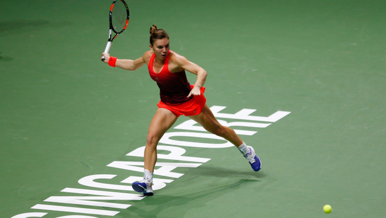 Simona Halep Turneul Cam pioanelor Singapore GettyImages 27 octombrie 2015