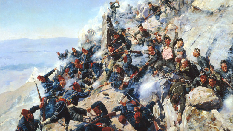The defeat of Shipka Peak Bulgarian War of Independence