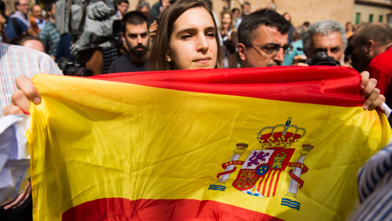 catalonia independenta steag spania - GettyImages-490254684