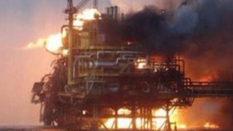incendiu platforma petroliera - news.az 1