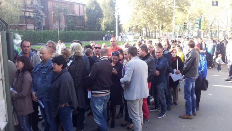 Coada cozi alegeri Milano 1