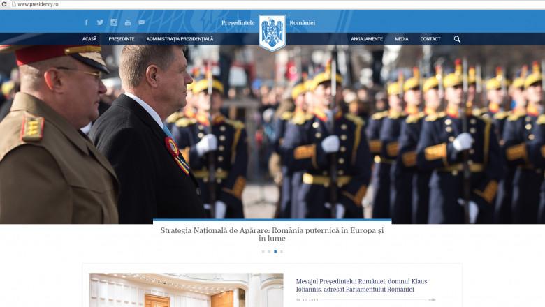 captura noul site presidency