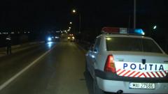 masina politie noaptea accident