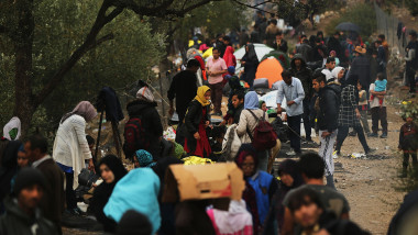 Conditii refugiati insula Lesbos Gulliver GettyImages octombrie 2015 1 1