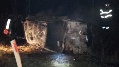 accident mortal incendiu Homorog