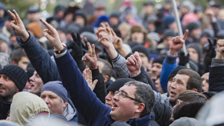 protest chisinau - usatai - 21012016 agerpres 8224817